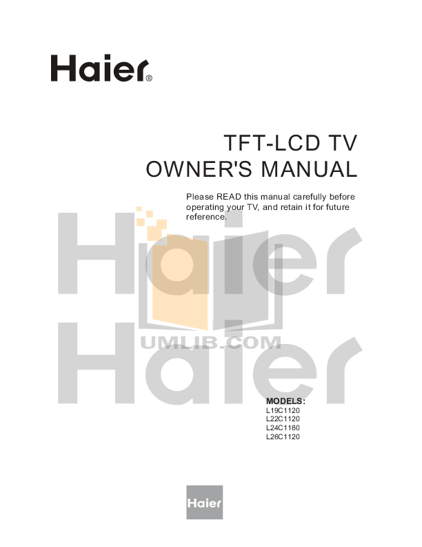 pdf for Haier TV L22C1120 manual