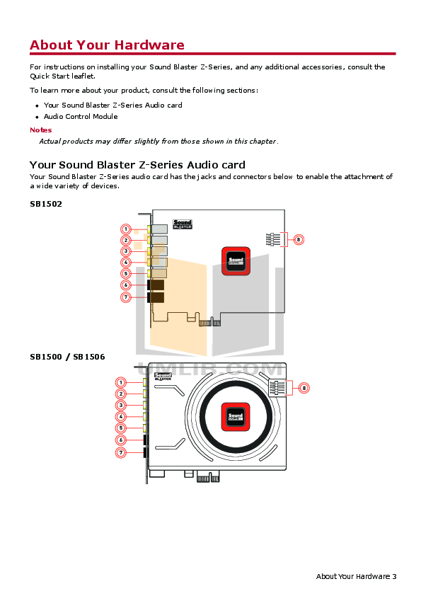Pdf manual for creative other soundblaster audigy 2 sound card.