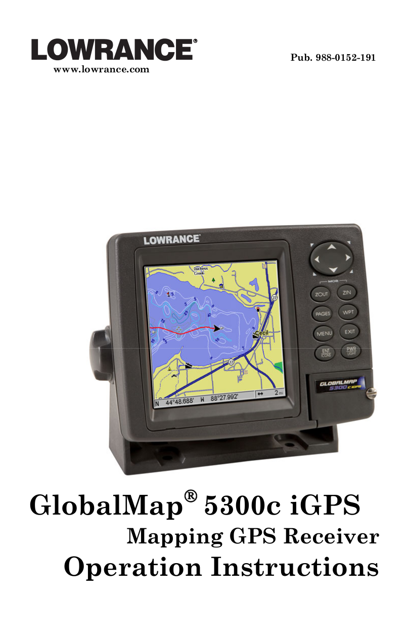 pdf for Lowrance GPS LMF-400 manual