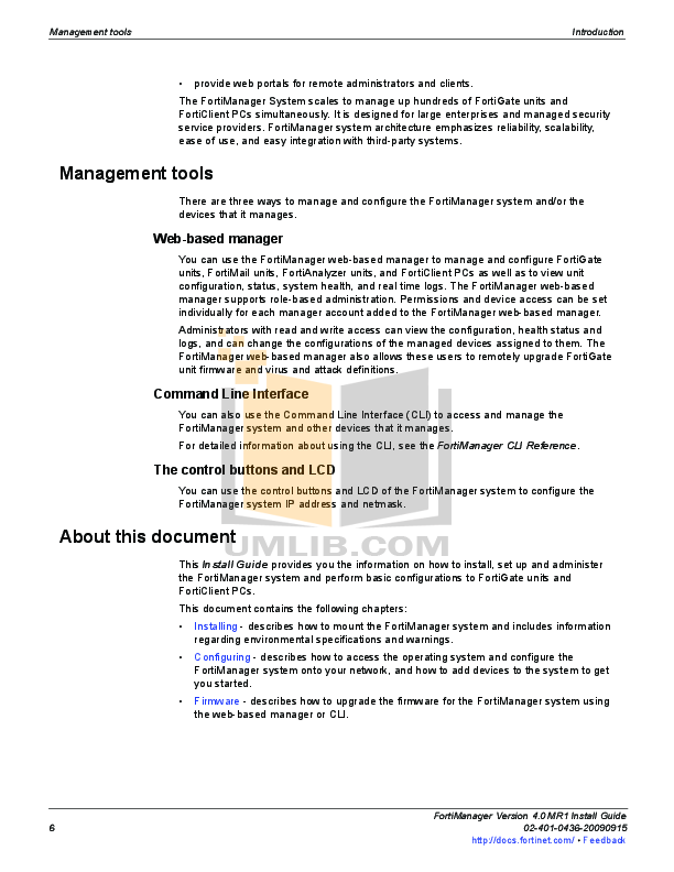 PDF manual for Fortinet Other FortiManager FortiManager-400 Security