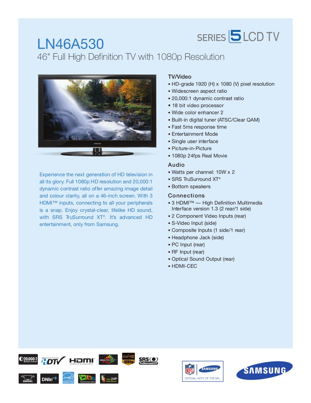 download free pdf for samsung ln46a530 tv manual rh umlib com Verizon Samsung Flip Phone Manual Samsung Owner's Manual