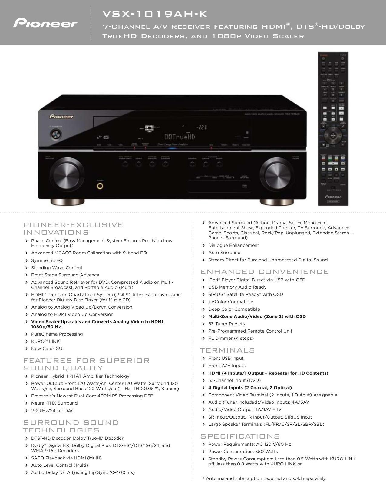 download free pdf for pioneer vsx 1019ah receiver manual rh umlib com Pioneer VSX 1019Ah K Walmart Pioneer VSX 1019Ah K Walmart
