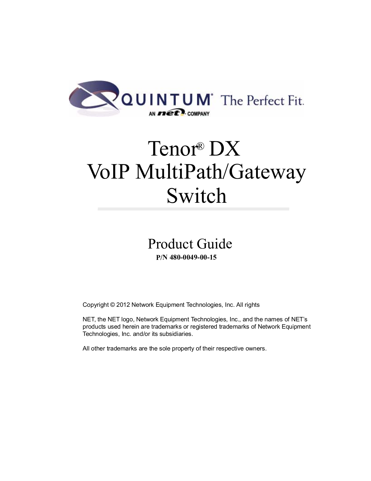 pdf for Quintum Switch DX Series DX8120 manual