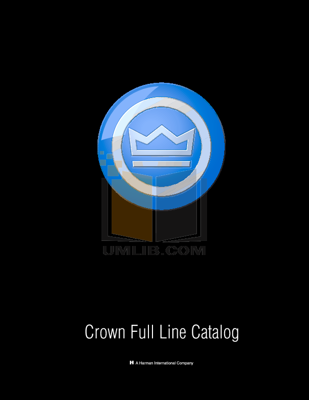pdf for Crown Other CEAS2 Connectors manual