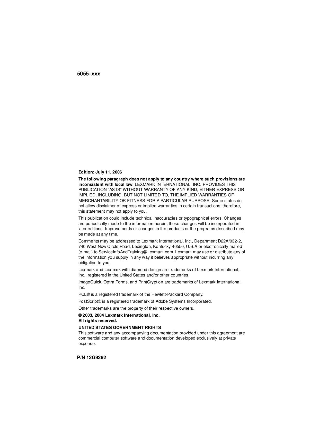 Lexmark Printer Z33 pdf page preview