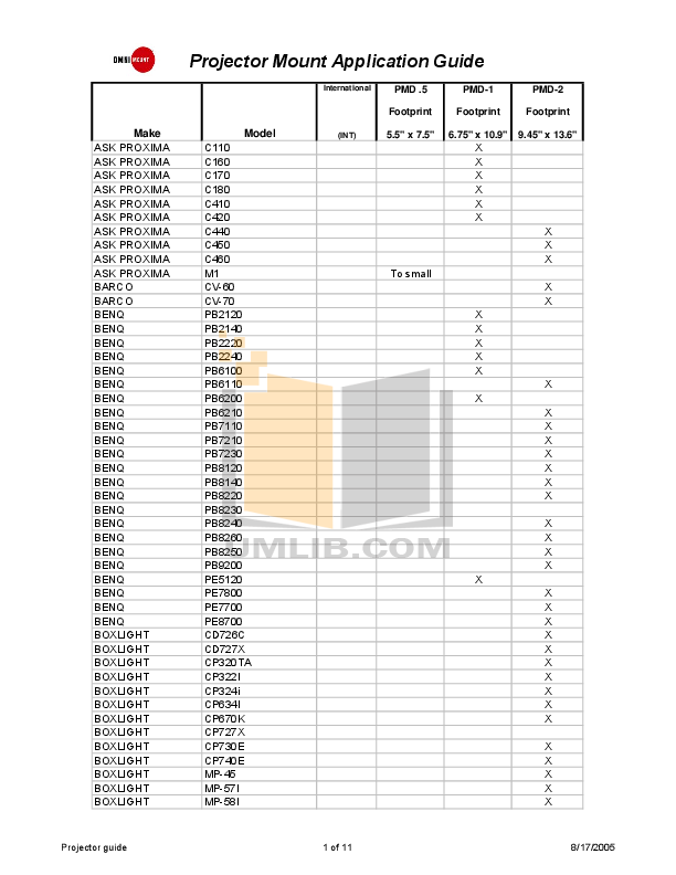 pdf for Boxlight Projector MP-63E manual