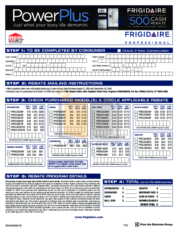 pdf for Frigidaire Refrigerator Professional FPHS2387KF manual
