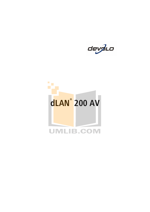 pdf for Devolo Other dLAN 200 AV Adapter manual