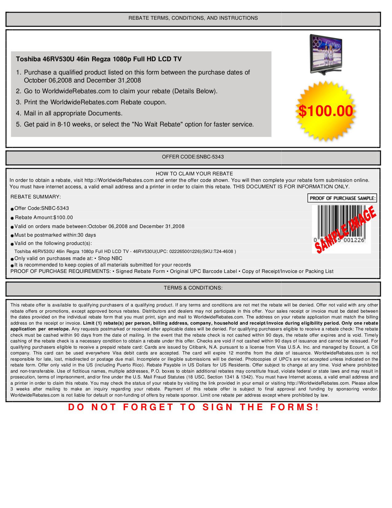 pdf for Toshiba TV Regza 46RV530U manual