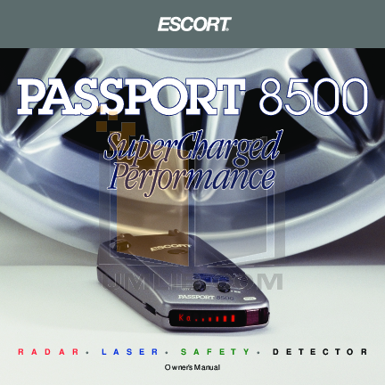 pdf for Escort Radar Detector Passport 8500 manual