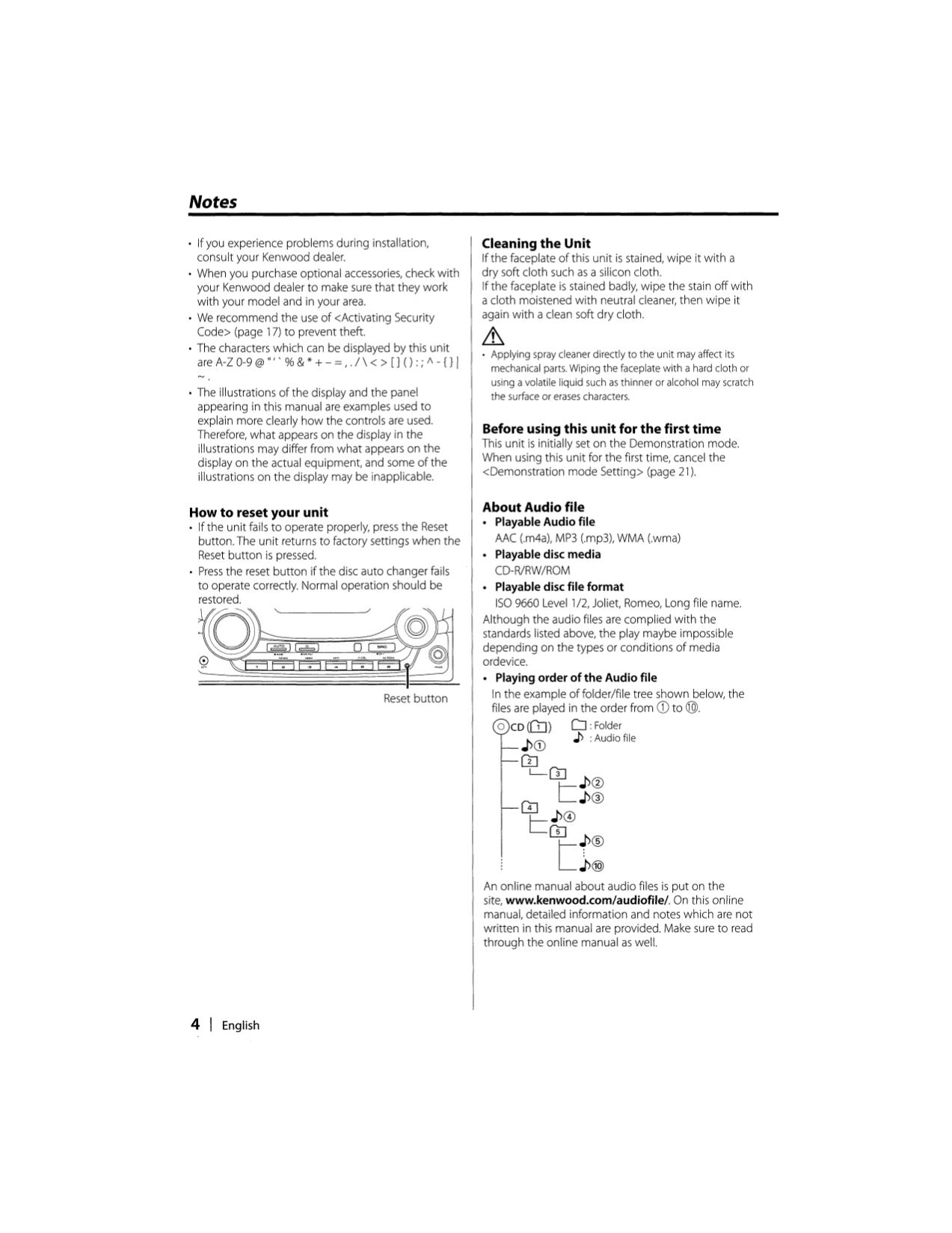 PDF manual for Kenwood Car Receiver DPX-302