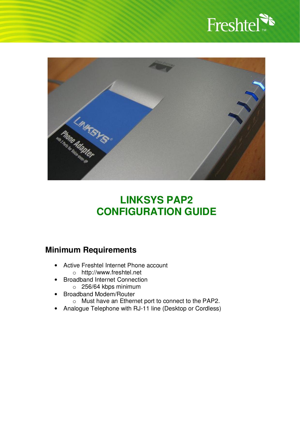 Pap2t pdf linksys manual