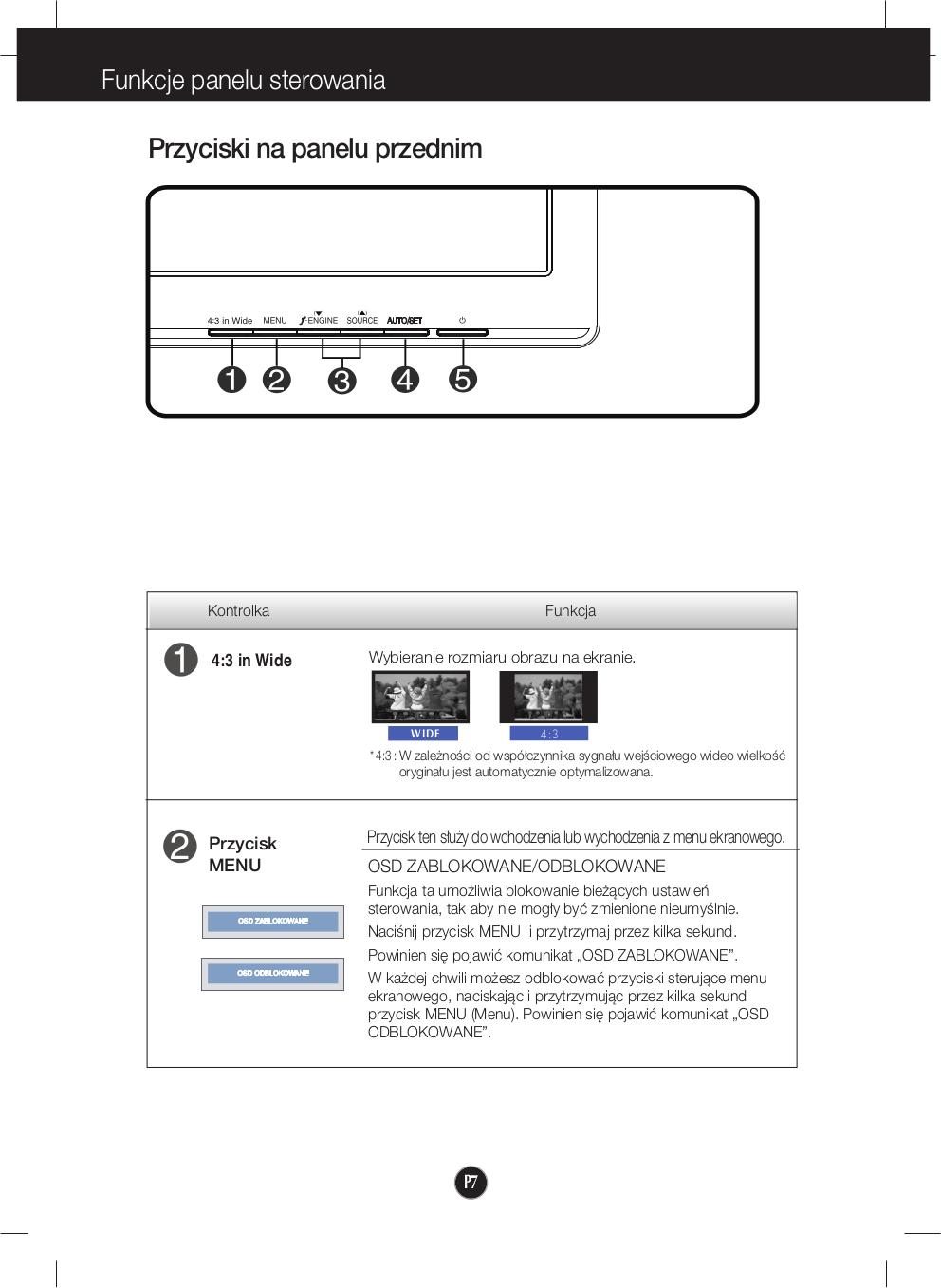 LG Monitor W2042T pdf page preview