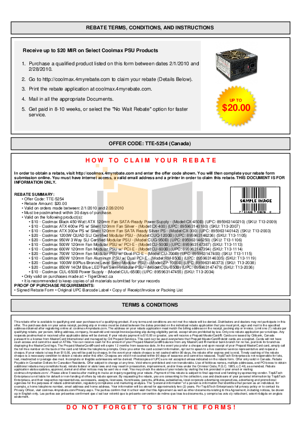 pdf for Coolmax Other CA-300 Power Supply manual
