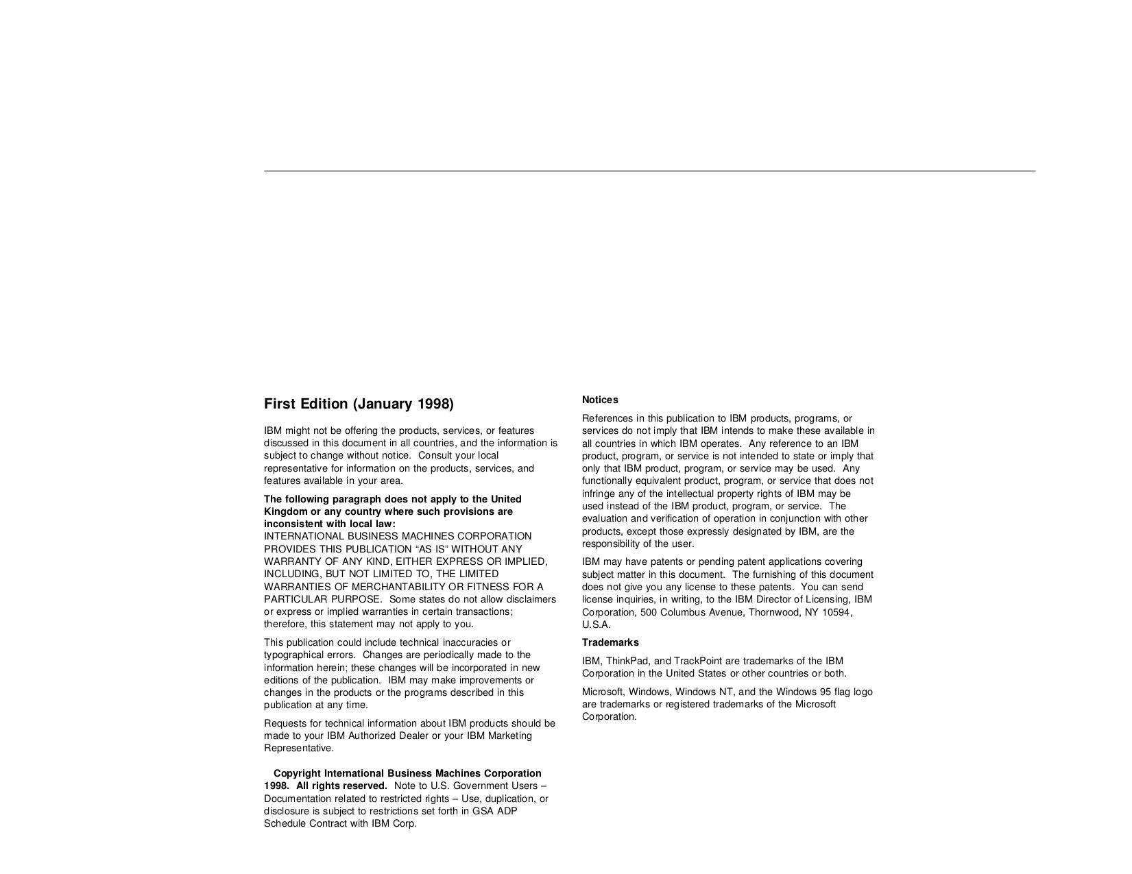 IBM Laptop ThinkPad 600 pdf page preview