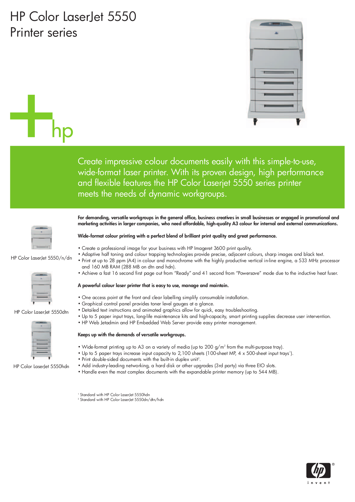 Download free pdf for HP Laserjet,Color Laserjet 5550hdn
