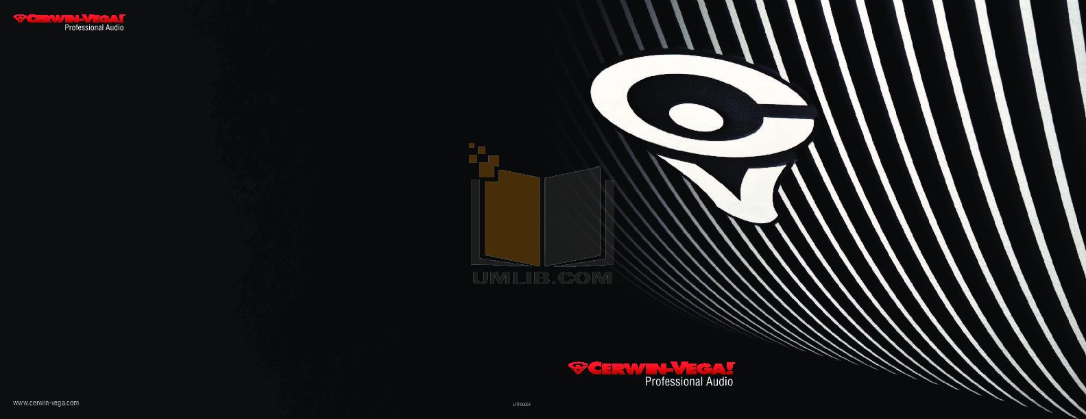 pdf for Cerwin-Vega Subwoofer CVA-121 manual