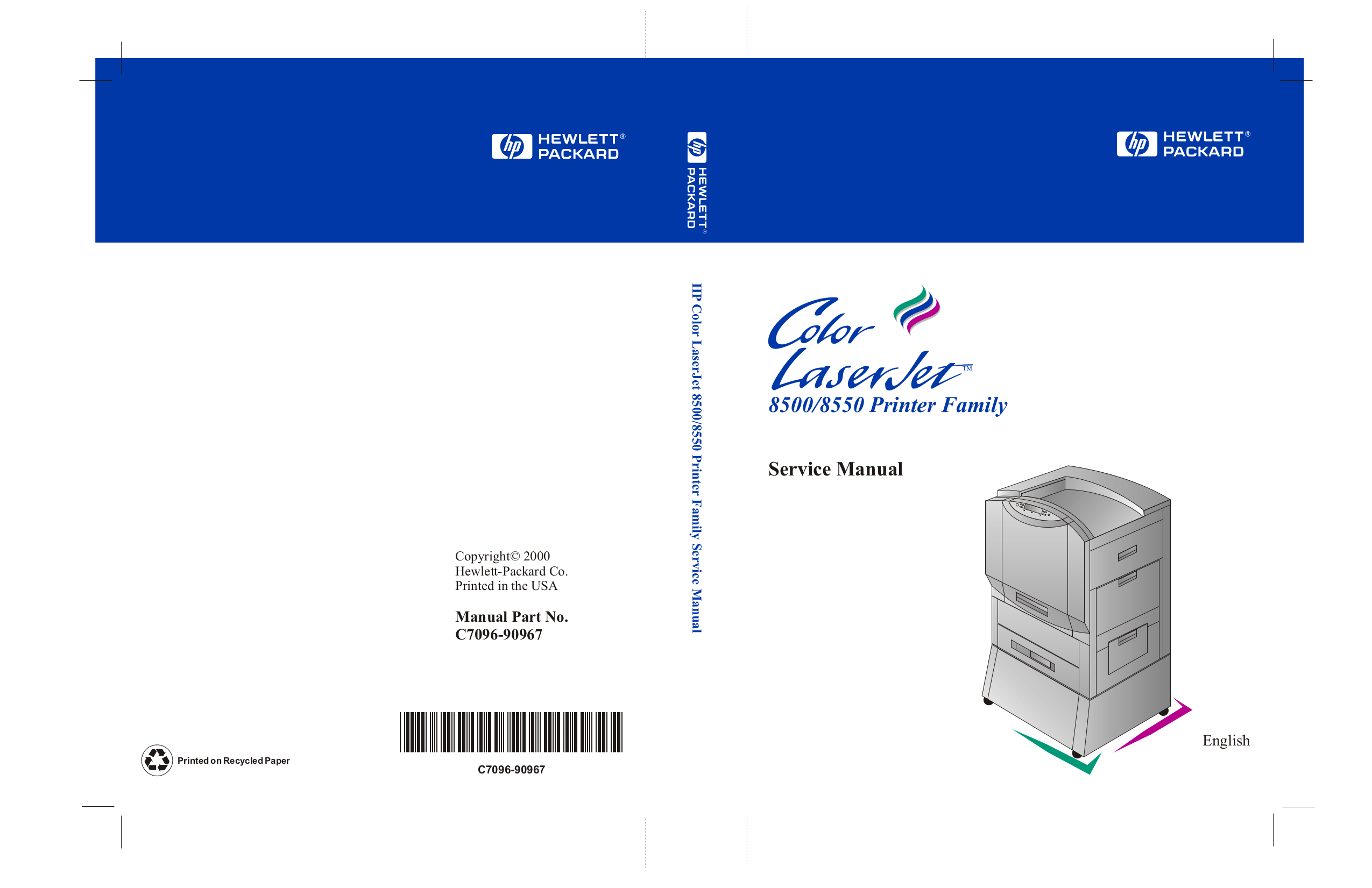 pdf for HP Printer Laserjet,Color Laserjet 8550dn manual