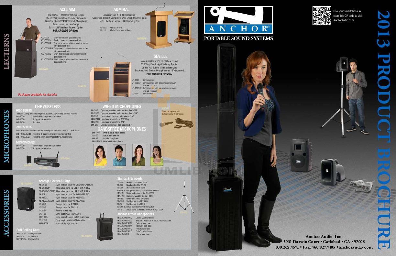 pdf for Anchor Speaker AN-130BK manual