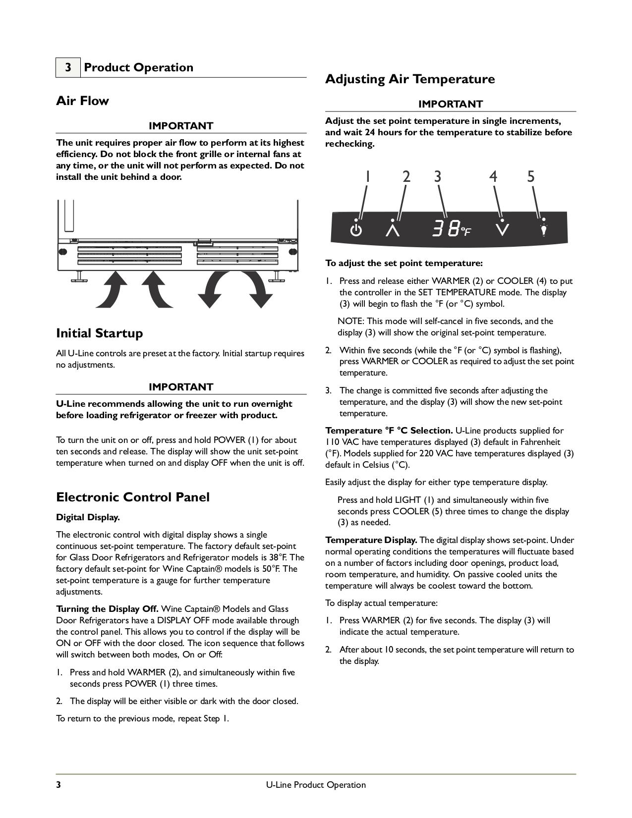U-Line Refrigerator Echelon 2175RF pdf page preview