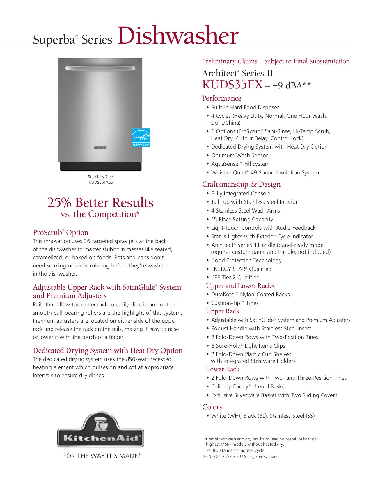 Download Free Pdf For Kitchenaid Kuds35fxss Dishwasher Manual Manual Guide