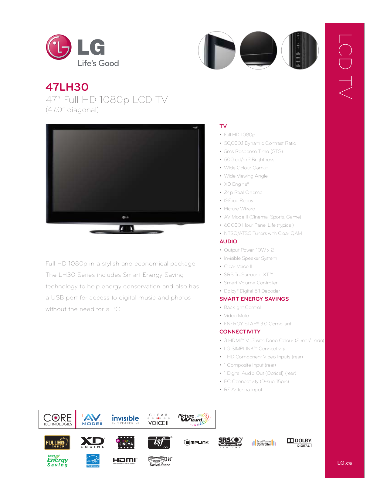 download free pdf for lg 47lh30 tv manual rh umlib com LG 47LH30 Replacement Screen Panel lg 47lh30 service manual
