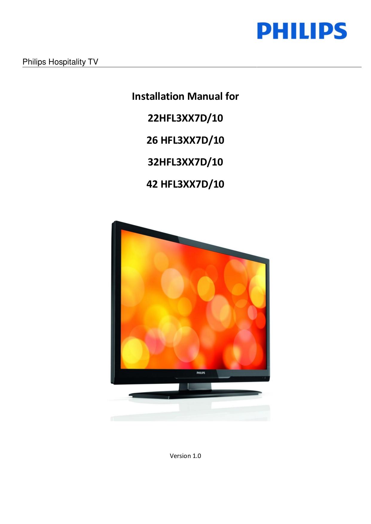 Philips Hospitality Tv Manual