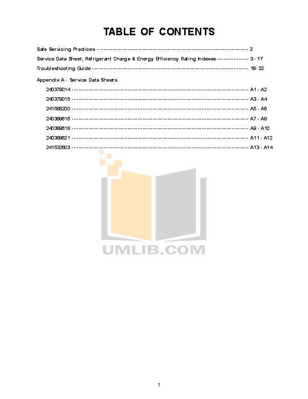 Frigidaire Refrigerator GLHS268ZDB2 pdf page preview