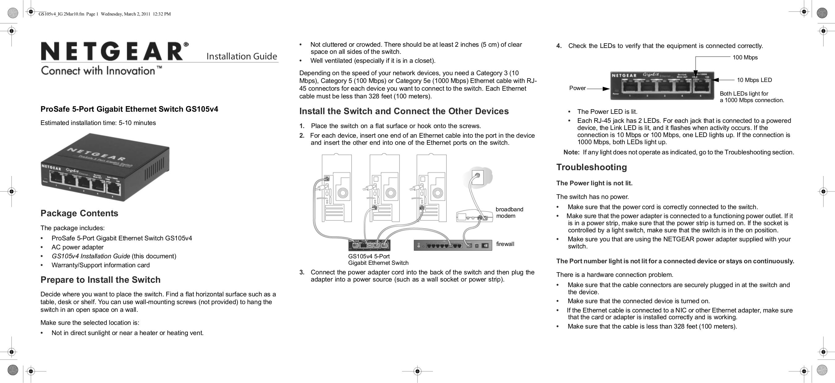 Netgear Gs105 Manual Download