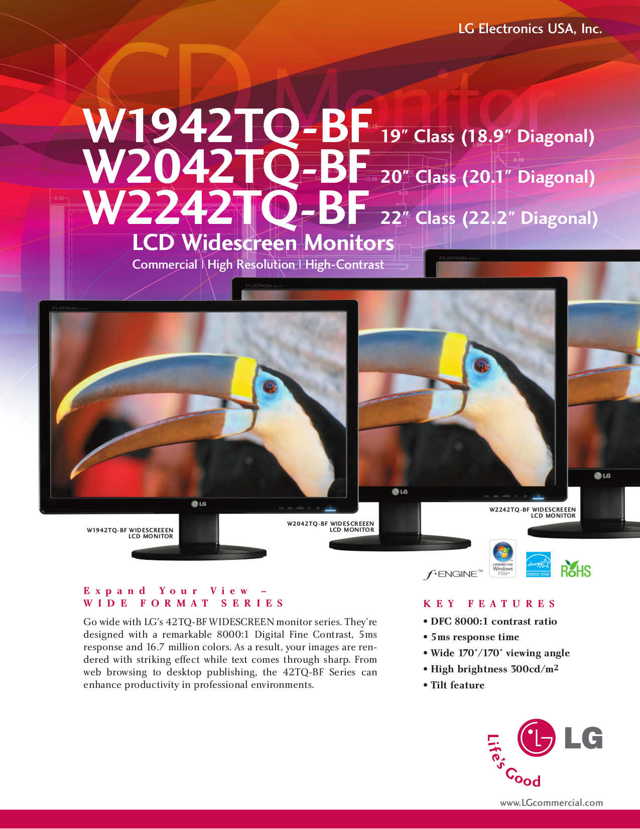 pdf for LG Monitor W2242TQ manual