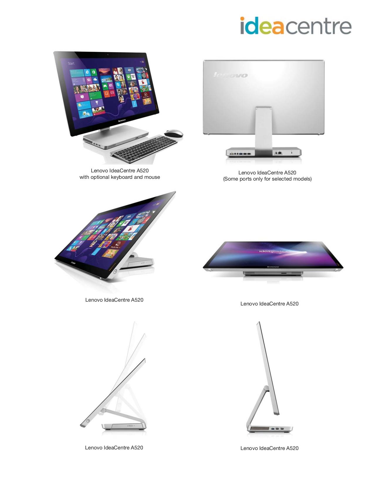 Lenovo Desktop IdeaCentre B520 7745 pdf page preview