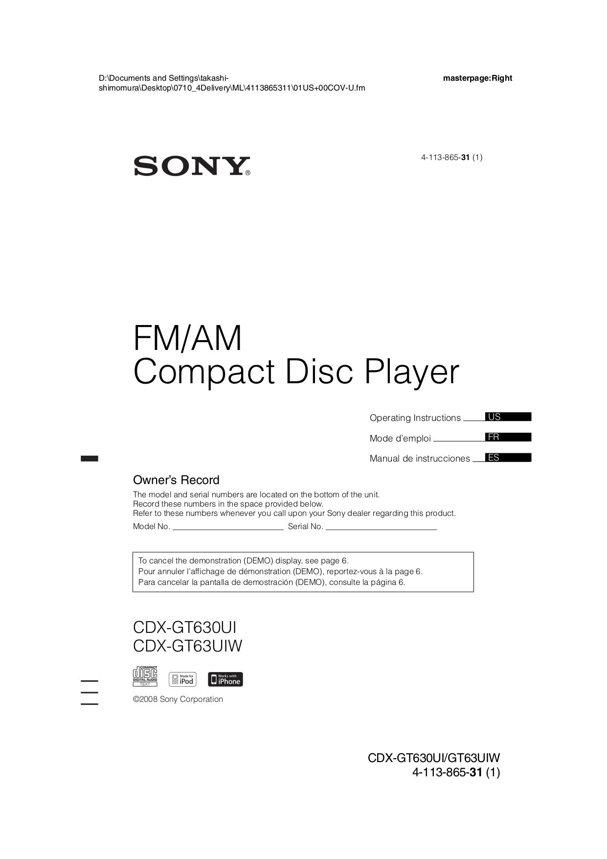 Sony Xplod Wiring Diagram Manual Sony Wiring Diagram Sony Cdx Gt200