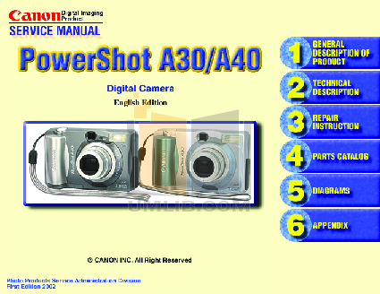 pdf for Canon Digital Camera Powershot Pro90 IS manual