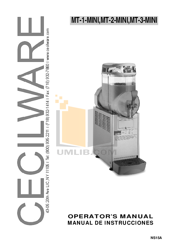 pdf for Cecilware Other MT-1-Mini Dispensers manual