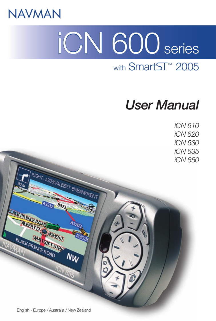 pdf for Navman GPS iCN600 manual