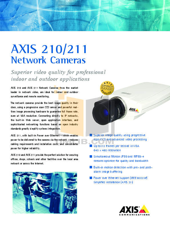 pdf for Axis Security Camera 211M manual