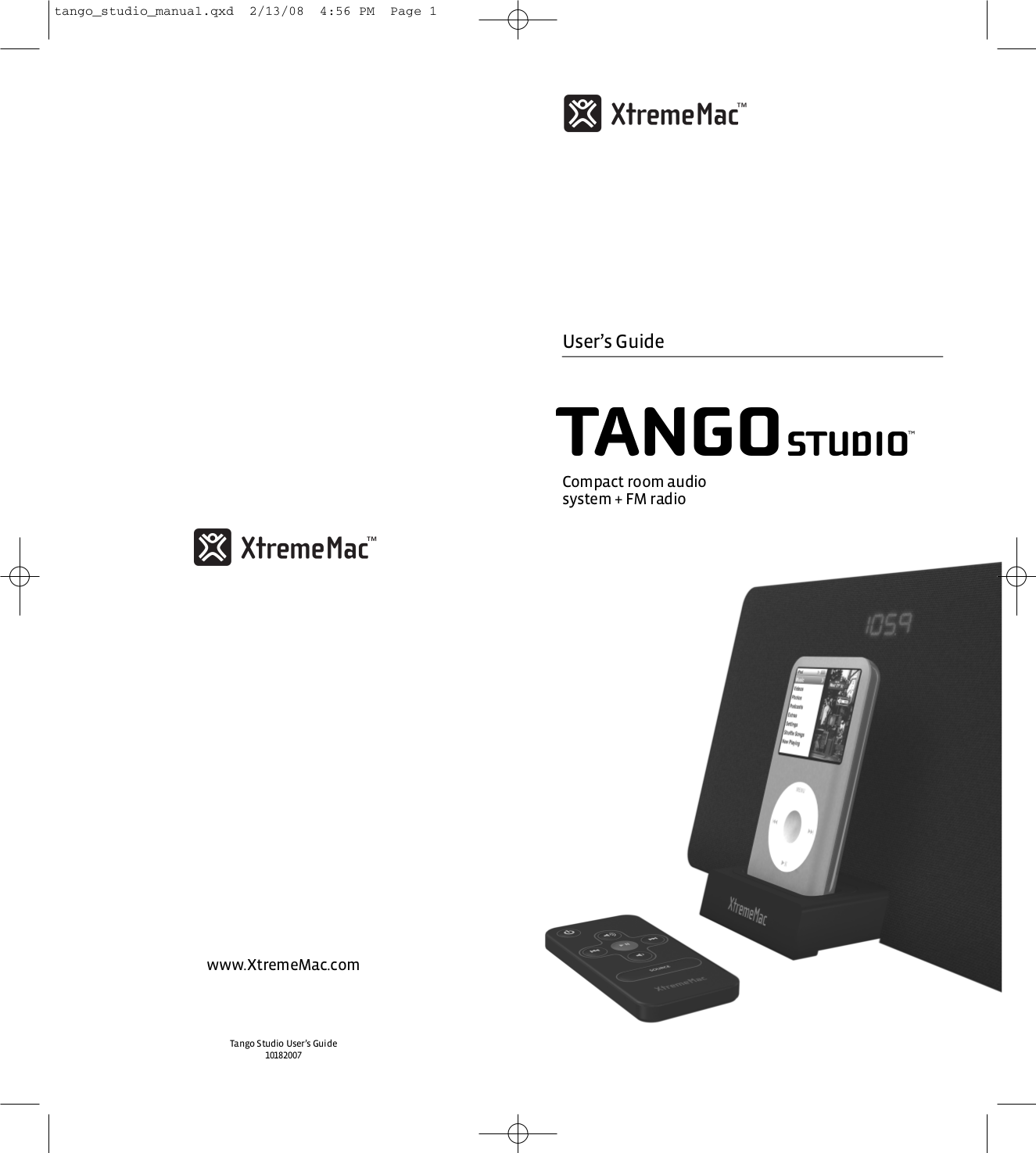 pdf for Xtrememac Speaker System Tango Studio manual