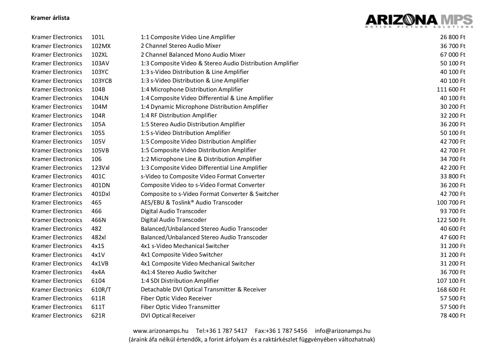 pdf for Kramer Other VP-450 Distribution Amplifiers manual