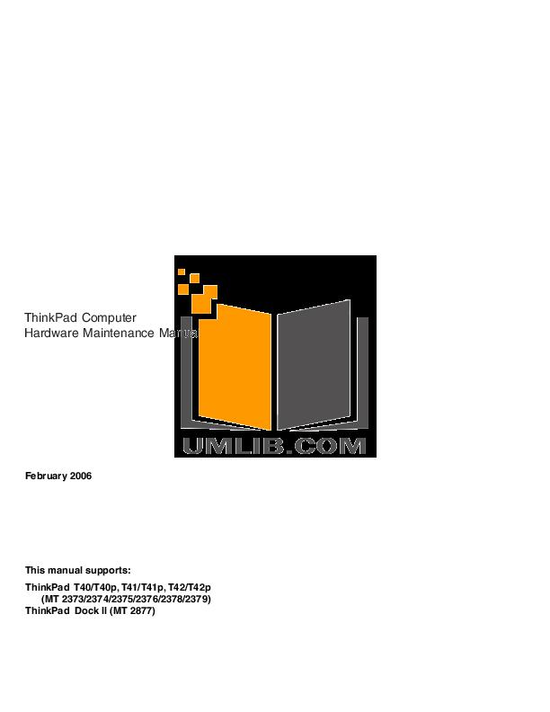 ibm thinkpad t40 manual pdf