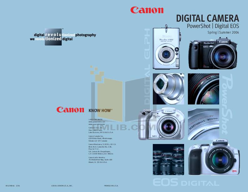 pdf for Canon Digital Camera Powershot Pro1 manual