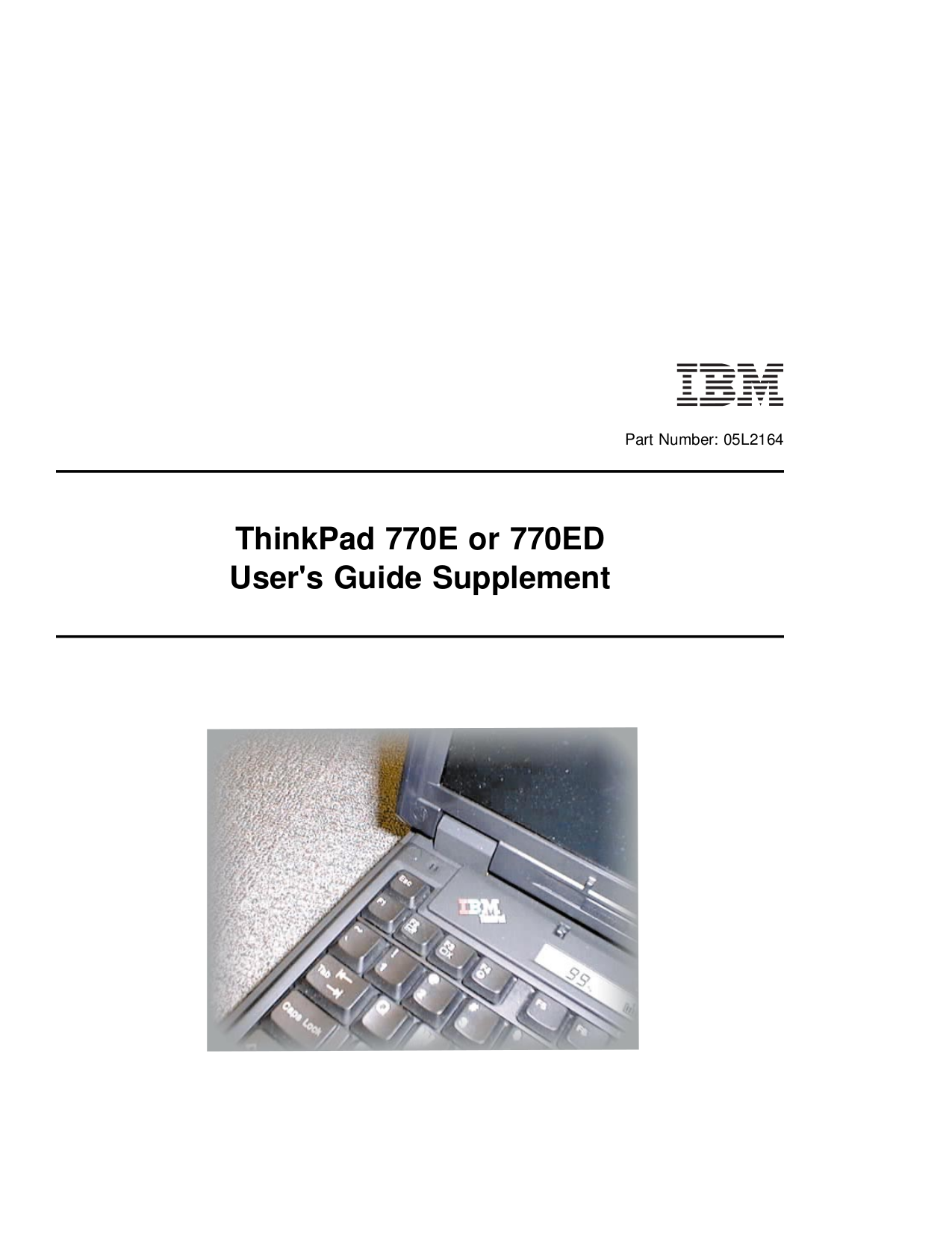 pdf for IBM Laptop ThinkPad 770X manual
