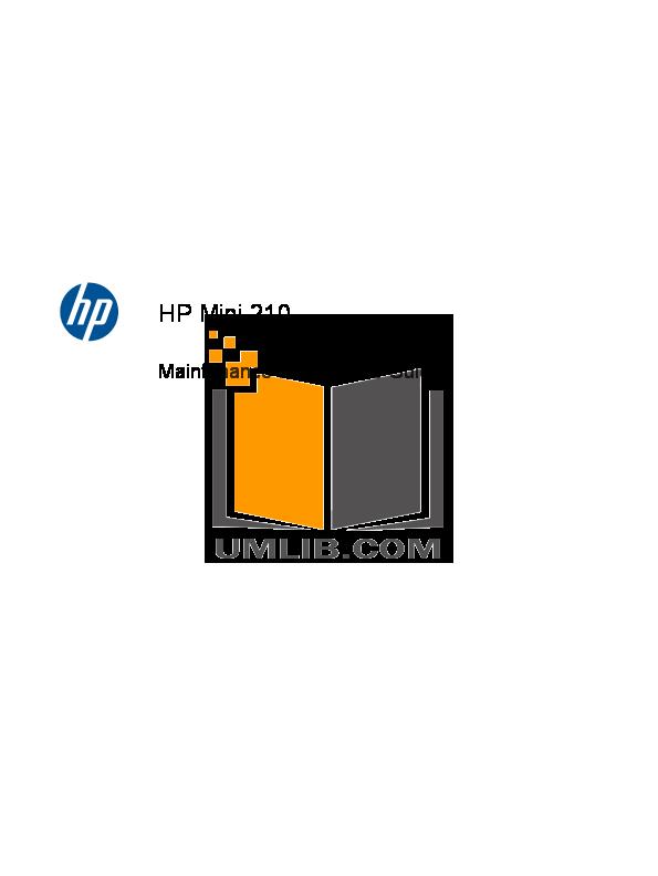 pdf for HP Laptop Mini 210-2180 manual