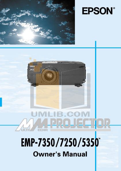 pdf for Epson Projector PowerLite 7350 manual