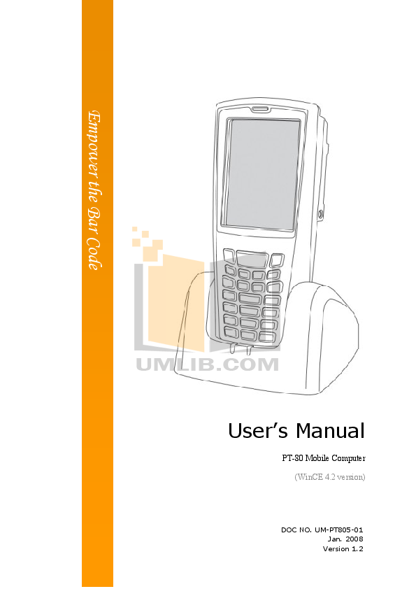 pdf for Argox PDA PT-18 manual