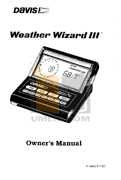 pdf for Davis Other Anemometer Drip Rings weather-accessories manual