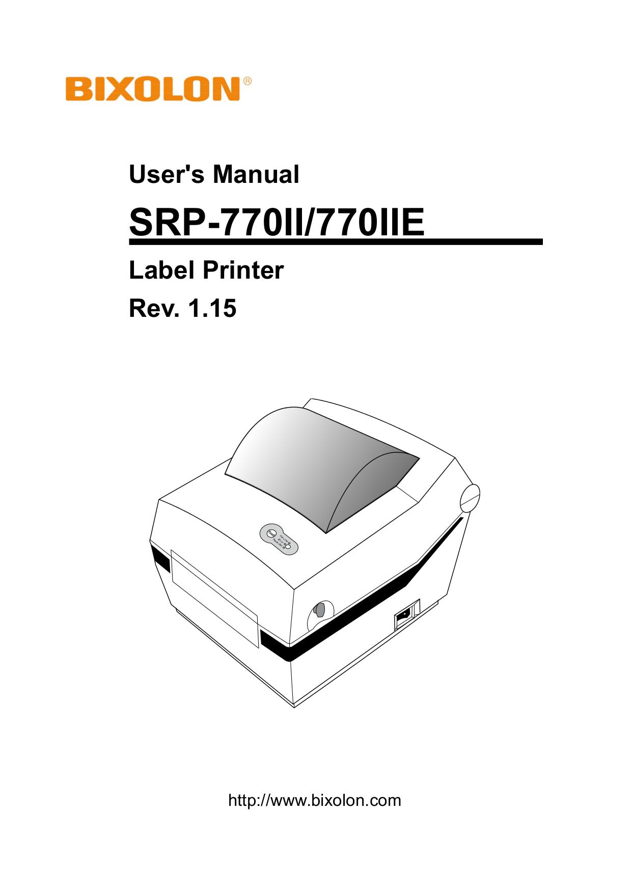pdf for Samsung Printer Bixolon SRP-770IIE manual