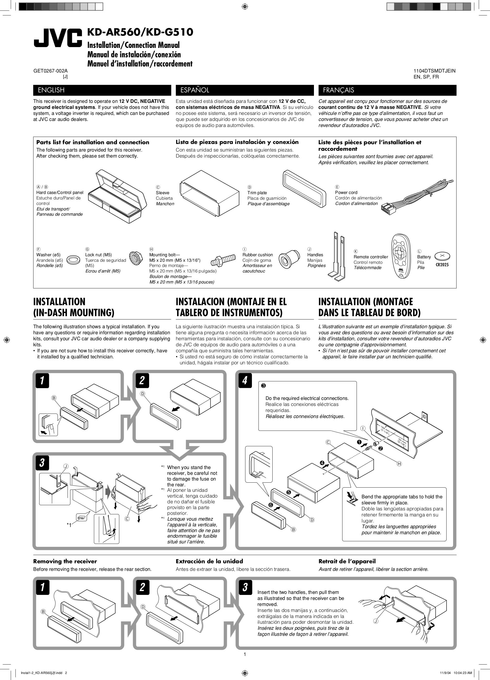 jvc kd ar560 manual daily instruction manual guides u2022 rh testingwordpress co Wire Diagram 77 JVC KD SH JVC KD AVX