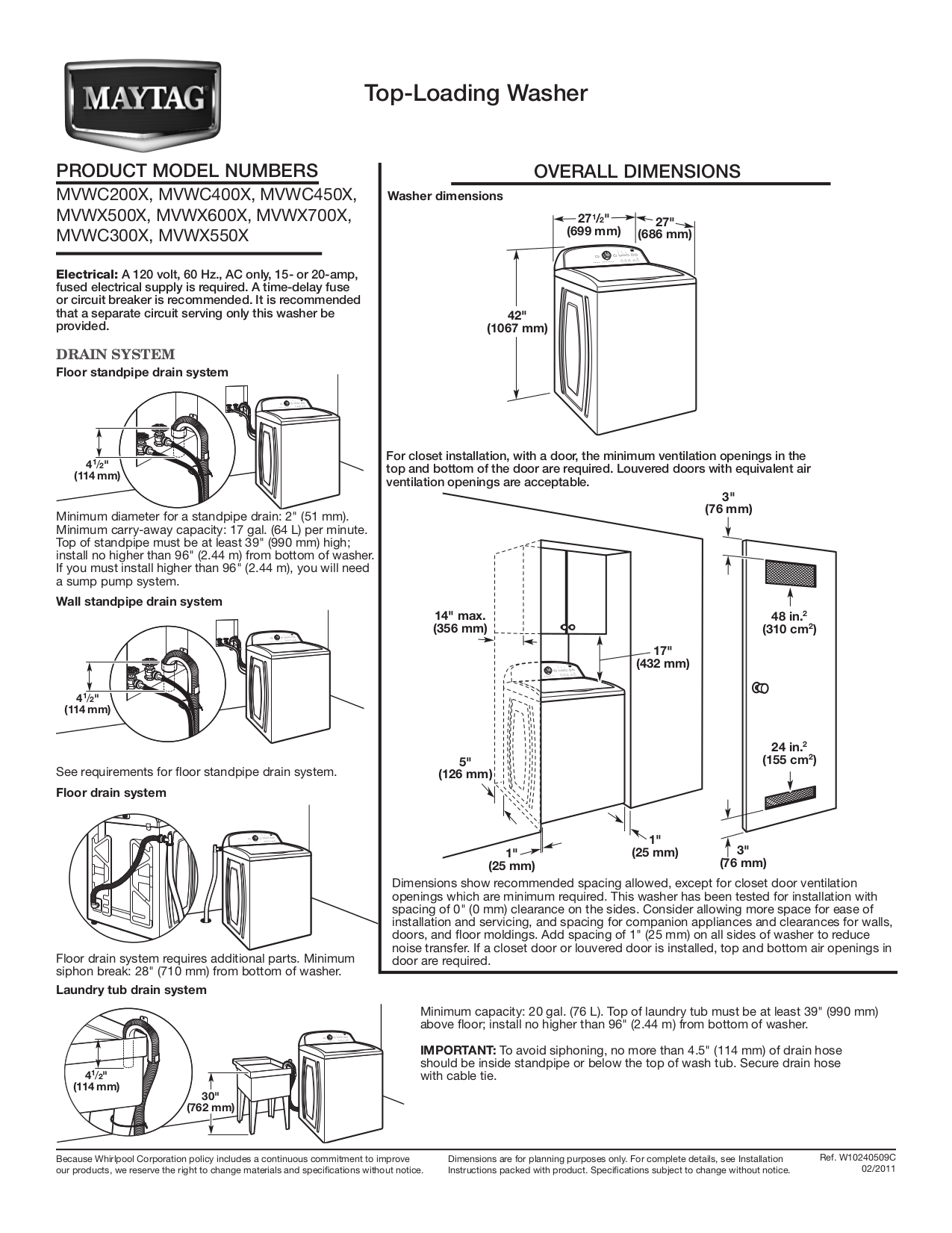 download free pdf for maytag mvwc200xw washer manual rh umlib com maytag washer manual mah5500bww maytag washer manuals for wgd58508wo