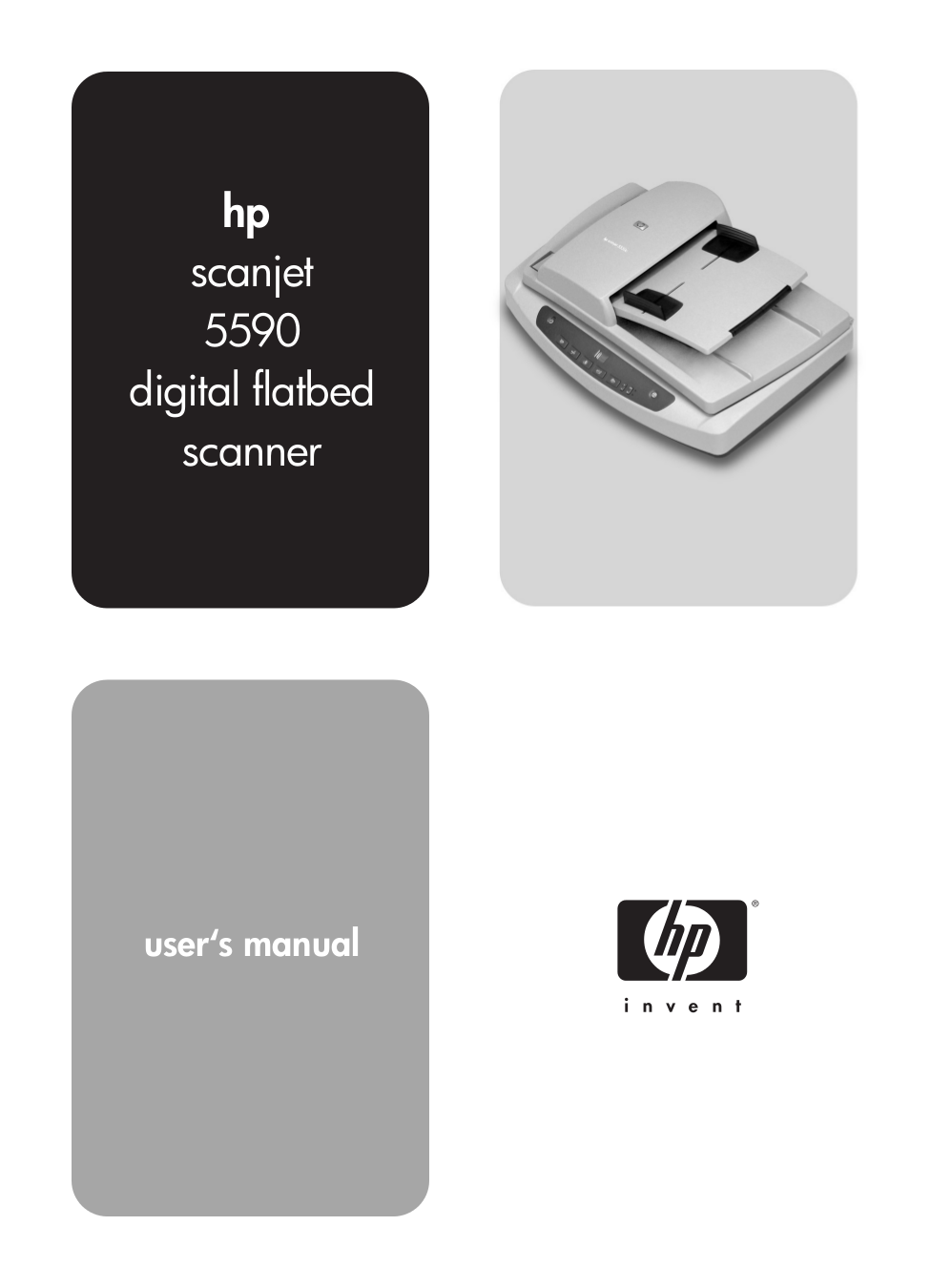 pdf for HP Scanner Scanjet 5590 manual