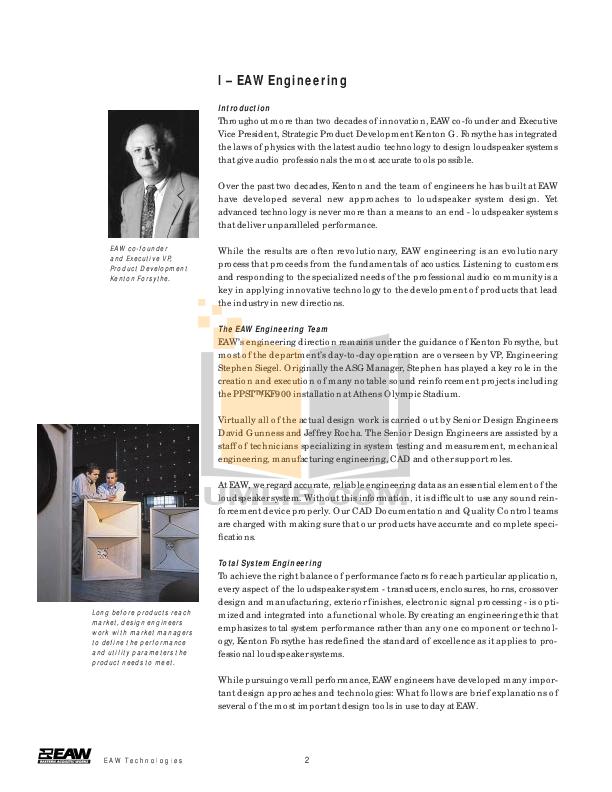 pdf manual for eaw speaker system kf853 rh umlib com